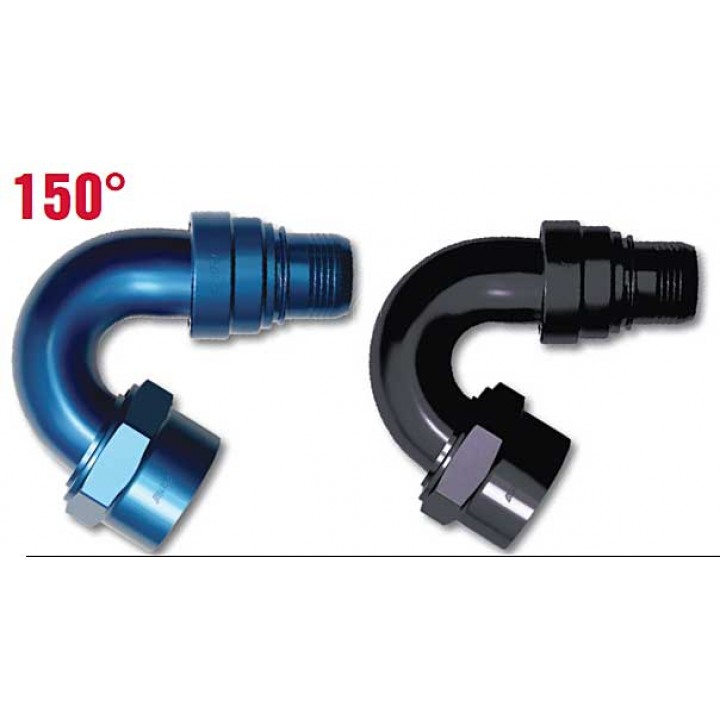 150° Hose Ends - Double Swivel - AN Female - ProGold