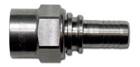 BMRS -06 Crimp Fitting Straight Hose Ends Stainless