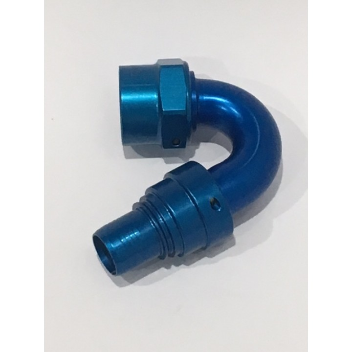 -12 Crimp Hose End 150° Swivel