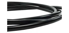 BMRS -6 Stainless Steel Braid Hose with Black TPE Sheath