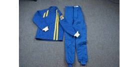 Fire Suit - Combo Jacket & Pants - Small - Blue