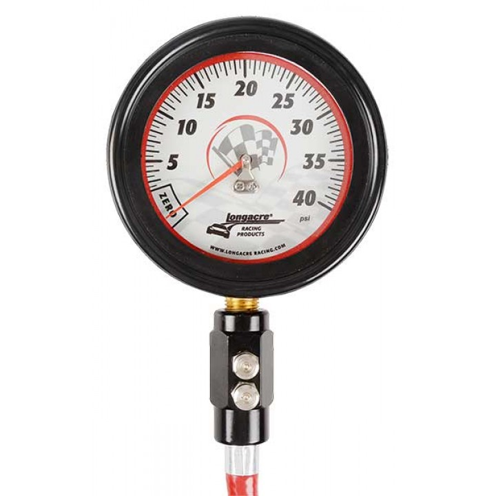 Tyre Gauge - 0-40 psi  with Hard Case - 3 & 1/2""