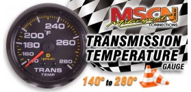 Transmission Temp Gauge - 140°-280° - Black Face