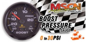 Boost Gauge - 0-30 PSI / In.Hg - Black Face