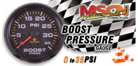 Boost Gauge - 0-35 PSI / In.Hg - Black Face
