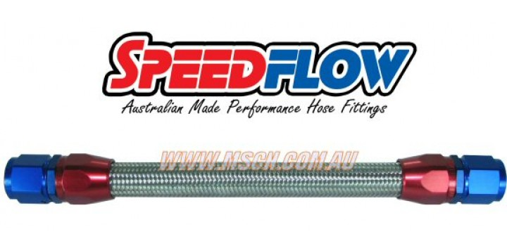 Speedflow 100 Series Stainless Rubber Braided Hose