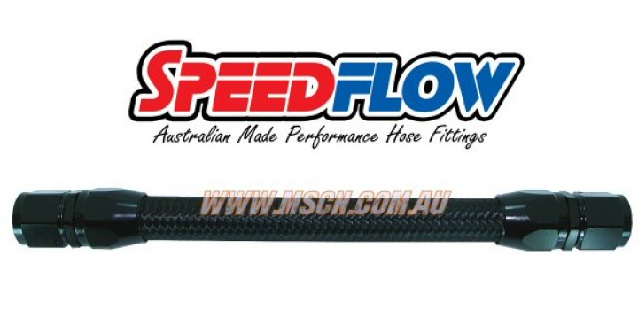 Speedflow 115 Series Black Nylon Braided Hose