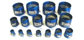 Speedflow 150 Series Blue Aluminium Hose Cover Clamps (Econo clamps)
