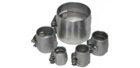 Speedflow 150 Series Clear Aluminium Hose Cover Clamps (Econo Clamps)
