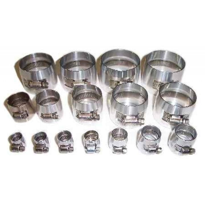 Speedflow 150 Series Raw Finish Aluminium Hose Cover Clamps (Econo Clamps)