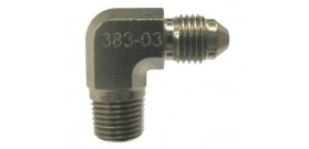 Speedflow 383 Series - NPT Male Adapter - 90 Degree