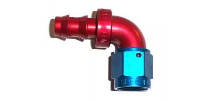 Speedflow series push lock hose end degree