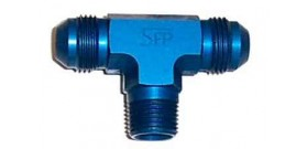 Speedflow 825 Series Male AN Flare Tee with NPT on Branch