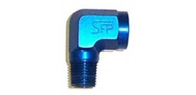 Speedflow 914 Series NPT Male to Female NPT Adapter - 90 Degree