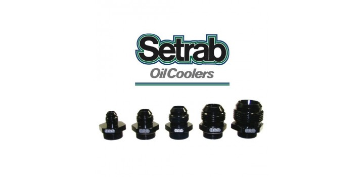 Setrab Oil Cooler - Fittings (Metric to Male AN)