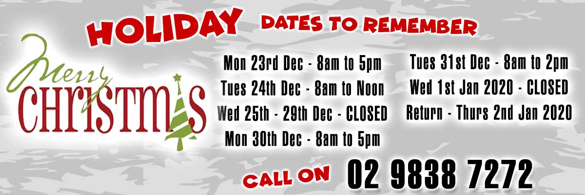 Christmas Holidays - Trading Hours
