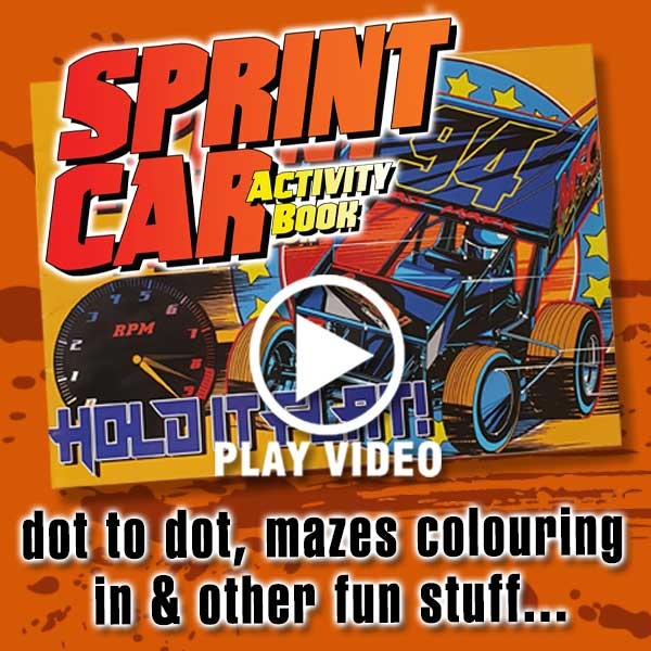 Sprint Car Activity Book