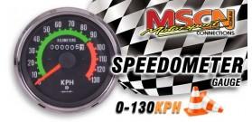 Speedometer - 0-130KPH - Chrome Bezel