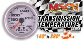 Transmission Temp Gauge - 140°-280° - Silver Face